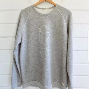 Marine Layer Double Knit Hoodie in Heather Grey